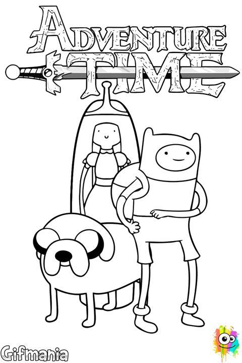 Lujoso Jake Y Finn Adventure Time Para Colorear Adorno - Ideas Para ...