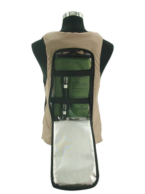 Ice Water Circulating Cooling Vest Tan Detachable Bladder