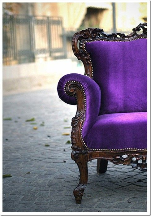 I would like to have this purple chair.