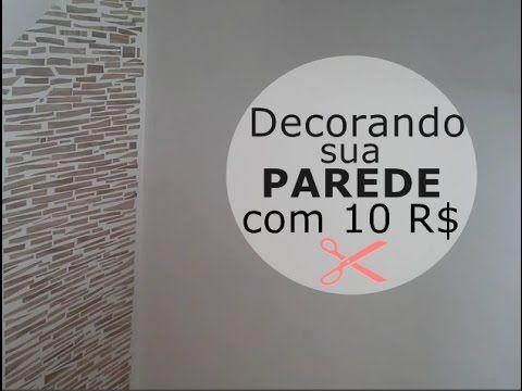 Decore sua parede  com R$ 10 reais usando papel contact estilo madeira