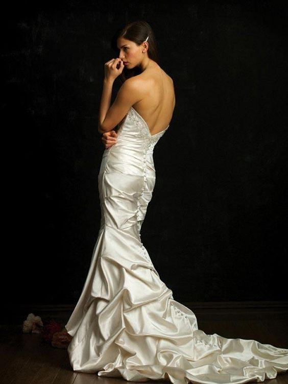Strapless Mermaid /Trumpet Wedding Dress