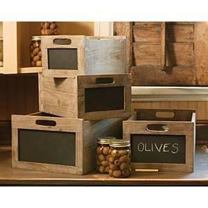 Blackboard Produce Crate
