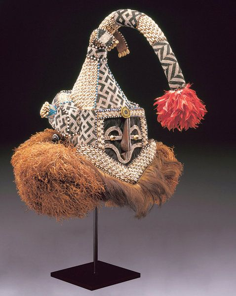 """An elephant mask from the Republic of Congo in """"African Masks: The Art of Disguise"""""""