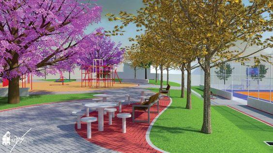 Urbanismo • Projeto de Revitalização - Praça do Bairro Cinquentenário, Caxias do Sul • Créditos: FONTE SEMMA