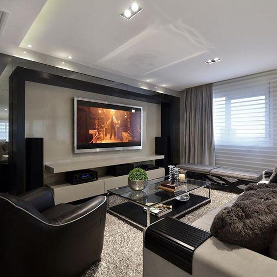 decoracao de interiores home theater:bedroom projeto sofás homes e muito mais arquitetura home theaters