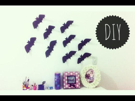 Decoração de Halloween: Morcegos na parede - DIY