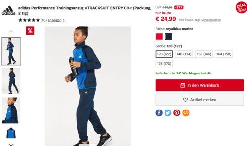 adidas performance trainingsanzug tracksuit entry ch
