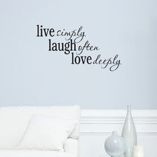Live Laugh Love Passions Wall Decal