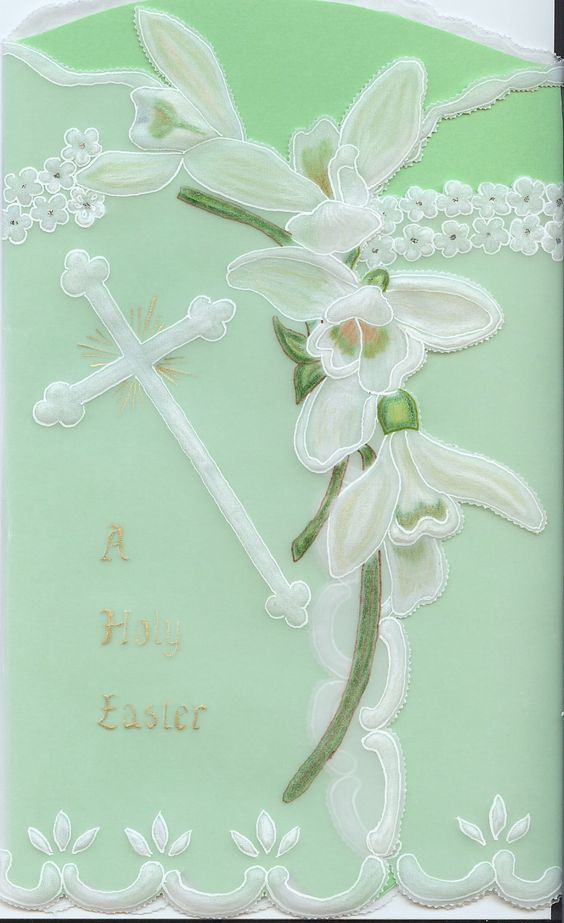 Pergamano Easter card