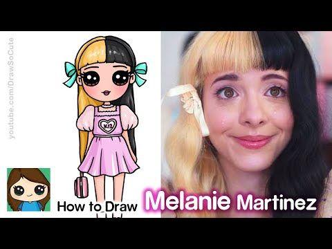 How To Draw Melanie Martinez K12 Album Youtube Cute Little Drawings Kawaii Girl Drawings Cute Drawings