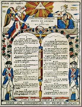 Declaration of the Rights of Man and Citizen. A document which declared equality not only for all French citizens, but for all men, for all time.