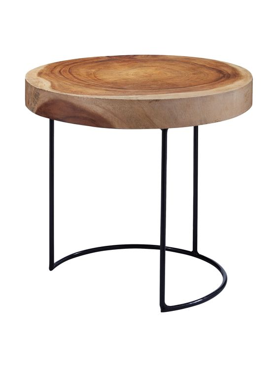 Artistic Lighting Suar Wood Slab Table, Natural at MYHABIT