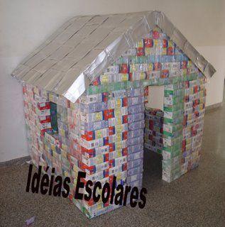 Chrismar: CASINHA DE CAIXA DE LEITE