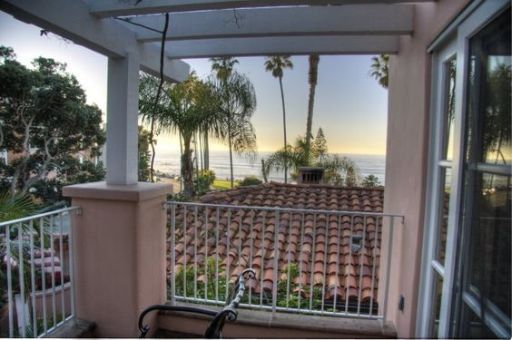 The view from Bungalow 8 at La Valencia Hotel, San Diego