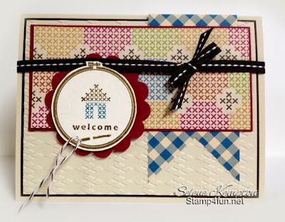 Stamp 4 Fun with Selene Kempton ~ Stampin' Up! Independent Demonstrator: 8/15 Stampin' Up! Hoop Lala and Orchard Harvest Designer Series Paper
