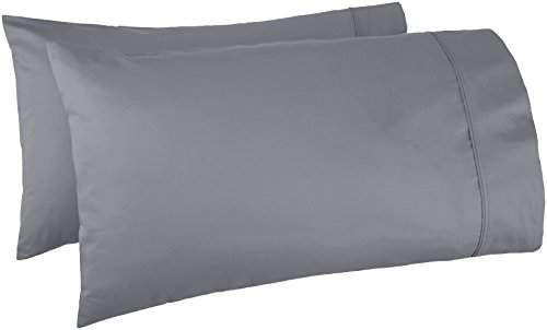 LUXURIOUS QUALITY Pillow Case Dark Grey 400 Tc 100/%Cotton Set Of 2 Pillowcase