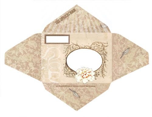 Wings of Whimsy Dutch Fairy Fold \ Mail Stationery #vintage - small envelope template