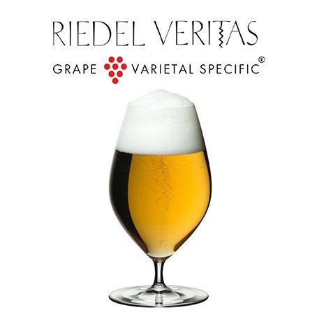 The Riedel Veritas Beer Glass is the first and only beer glass in the ground-breaking series, and offers an added value proposition to consumers. Contrary to popular belief, the thinner the beer glass, the less temperature exchange between beverage, vessel and environment, due to the fact that thicker glasses have more mass to retain heat. This means that the Riedel Veritas Beer Glass, a functional tool in nearly weightless form keeps beer cool for longer than a thicker stein glass.