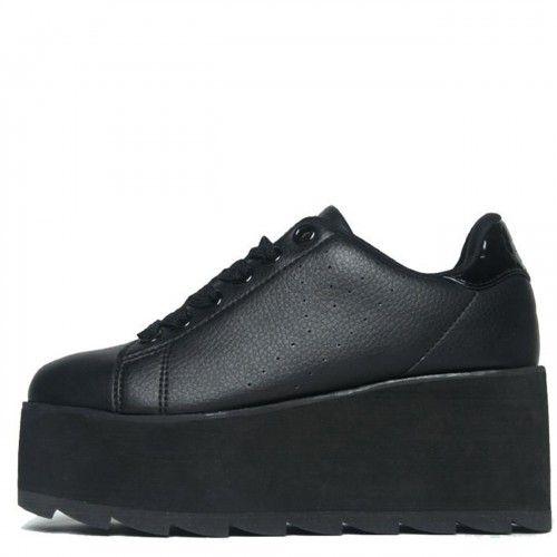 YRU Lala, platform sneaker, black, 10