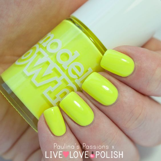 Pastel Neon Yellow #nail_polish