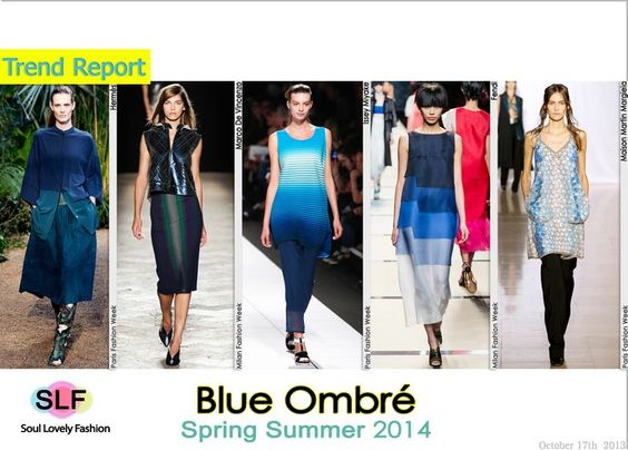 Blue OmbréColor #Fashion Trend for Spring Summer 2014  #fashiontrends2014 #spring2014 #trends #ombre #bue