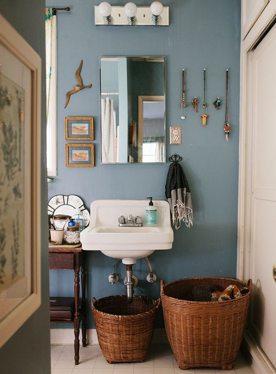Woven baskets rental bathroom and larger on pinterest - Bathroom decorating ideas for renters ...