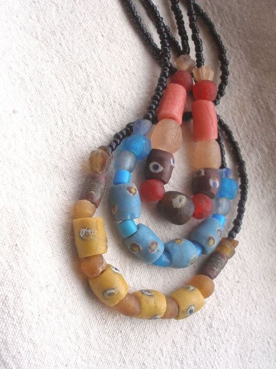 Eco Mothers Day FIFA Recycled glass Necklaces by Fianaturals, $35.00