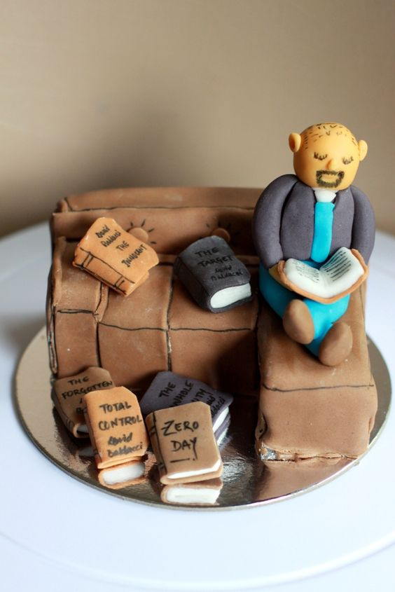 'Novel Reader Theme' cake!!! This one's just a topper to be placed on Chocolate-Date Cake :)