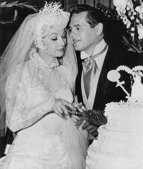 Lucille ball and desi arnaz i love lucy pinterest for Lucille ball wedding dress