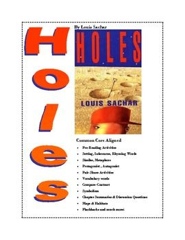 Worksheet Holes Worksheets louis sachar activities and inference on pinterest 61 common core aligned worksheets for the book holes by include settings