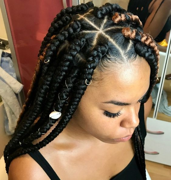 Recent New Braiding Hairstyle Latest 2019 Box Braids Styles Owambe Celebrities World Box Braids Styling Black Box Braids Box Braids Hairstyles