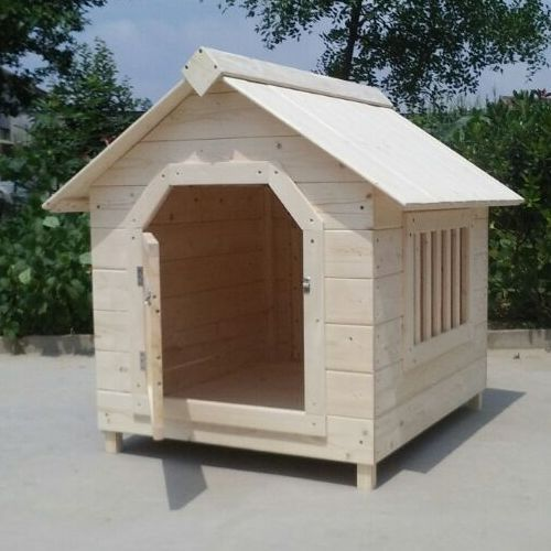 Wood Double Dog Kennel Outdoor Large Dog House For Two Large