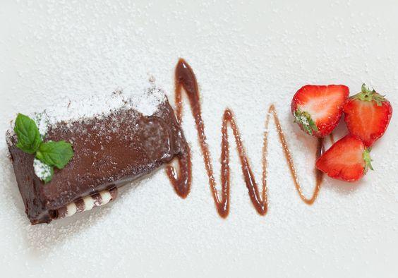 pavê de chocolate e morango