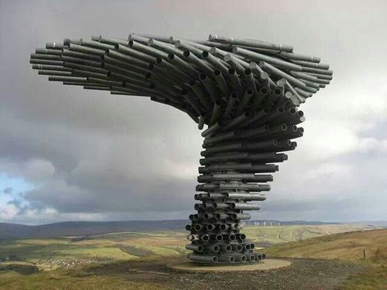 Art you can see and hear. Lancashire, England