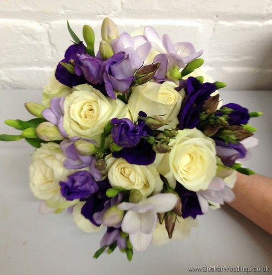 Purple And Cream Wedding Flowers Brides Bouquet With Lilac