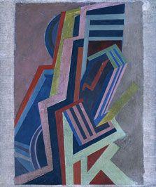 "Edward Wadsworth, ""Composición vorticista"", 1915. Museo Thyssen - Bornemisza [SALA 42]. #ProgramaNosotras"