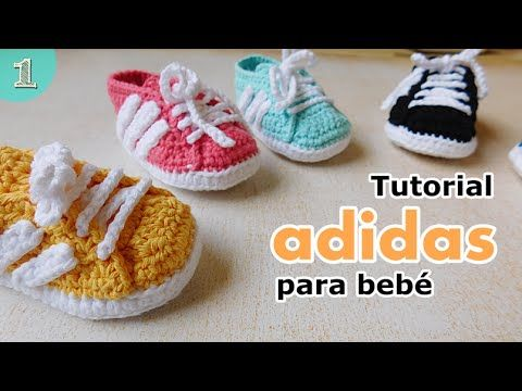 Como tejer zapatitos botitas escarpines bebE crochet, ganchillo ...