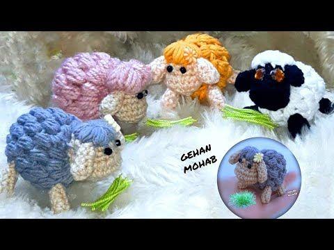 خروف العيد كروشيه طريقة عمل خروف العيد ميداليه او تعليقة أو لعبه Crochet Sheep Youtube Crochet Sheep Crochet Hats Crochet