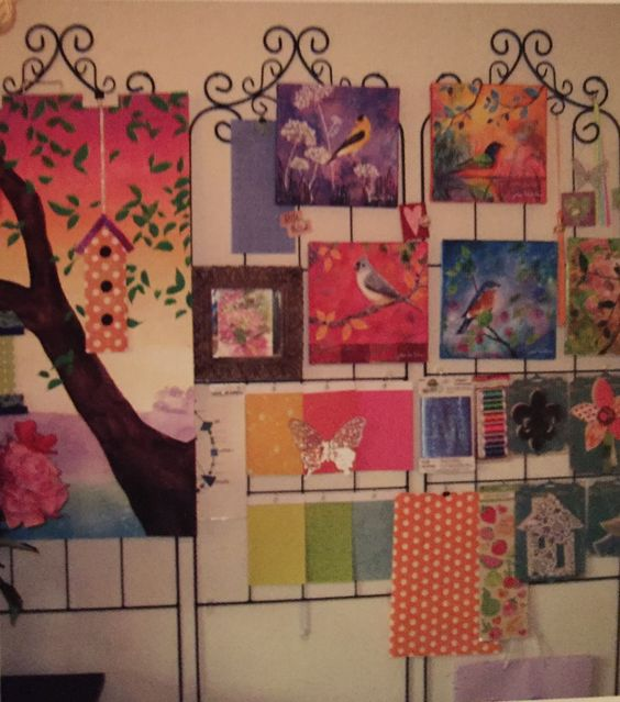 Garden trellis for hanging art & etc