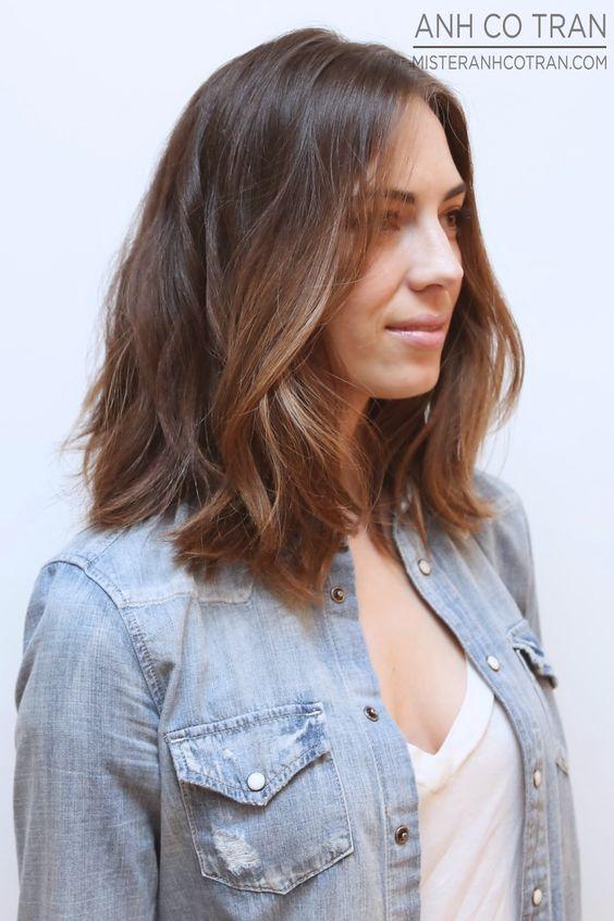 LA: CHEST LENGTH HAIR TO SHOULDER LENGTH AT RAMIREZ|TRAN. Cut/Style: Anh Co Tran. #brunette, #longhair #model #beauty #anhcotran #ramireztransalon #besthair