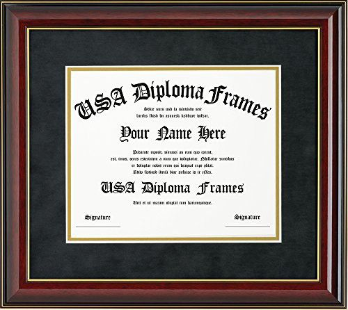 Glossy Cherry Mahogany With Gold Trim Diploma Frame 11 X 14 Document Diploma Frame Frame Certificate Frames