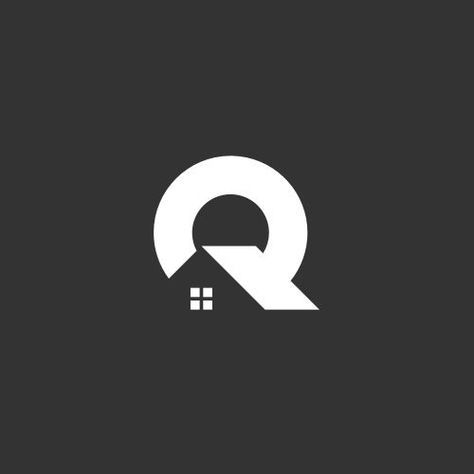 Q logo that incorporates a roof and a window