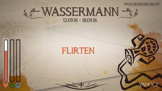 Wochenhoroskop: Wassermann (KW37 - 2016)