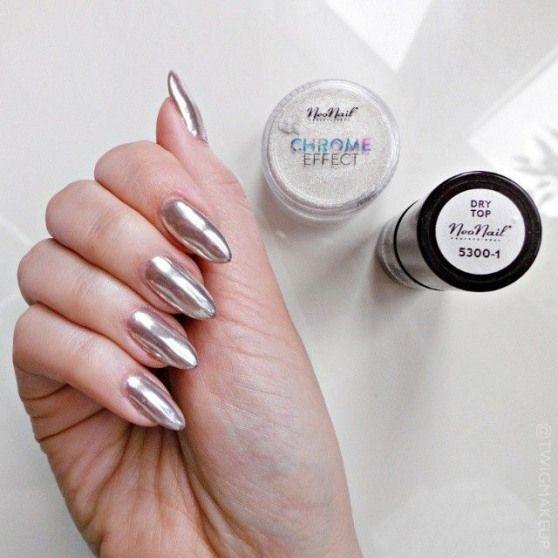 Amoureuse Chrome De Ici Je L39effet Mais Mes Montre Ne Ongles Pas Souvent Suis Trop I Don T Show My N Nail Effects Chrome Manicure Chrome Powder