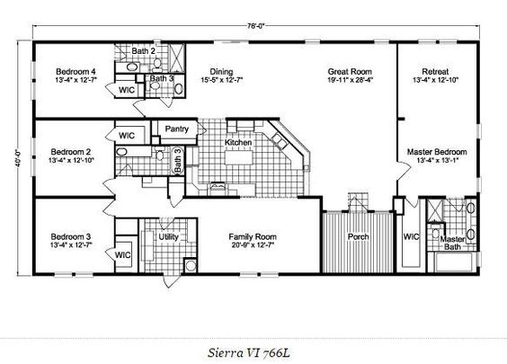 2 Bedroom Mobile Home Floor Plans best 25+ mobile home floor plans ideas on pinterest | modular home