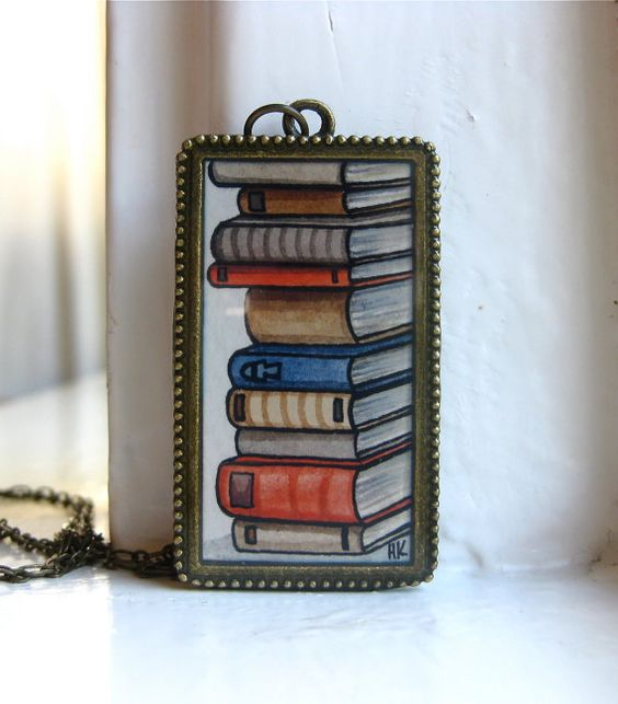 Beautiful necklace from Heather Kent, perfect for readers.