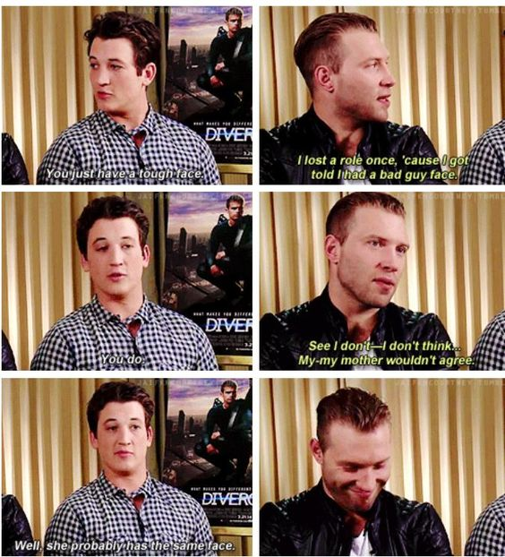 Miles is so freakin funny god