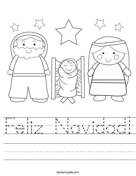 Bonito Hoja Para Colorear De Navidad Ilustración - Dibujos de ...
