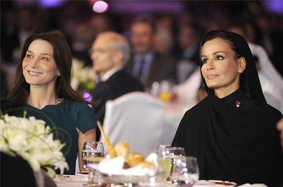 Carla Bruni & Sheikha Mozah