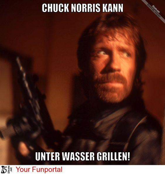 Chuck Norris kann unter Wasser...